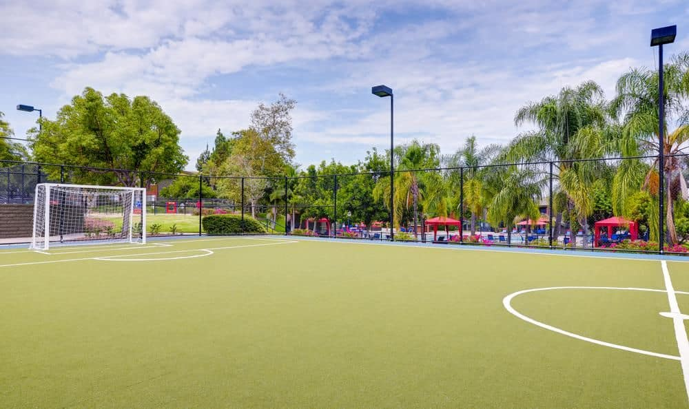 Beautiful soccer court at apartments in Oceanside, California
