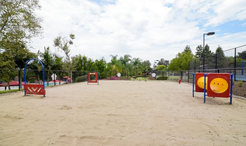 Dog park at apartments in Oceanside, California