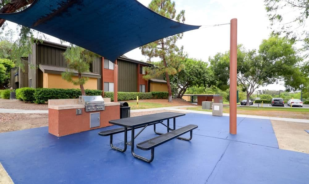 A bbq area that is great for entertaining at Presidio at Rancho Del Oro in Oceanside, California