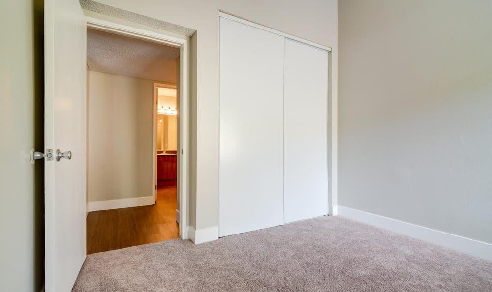 Beautiful bedroom at apartments in Oceanside, California