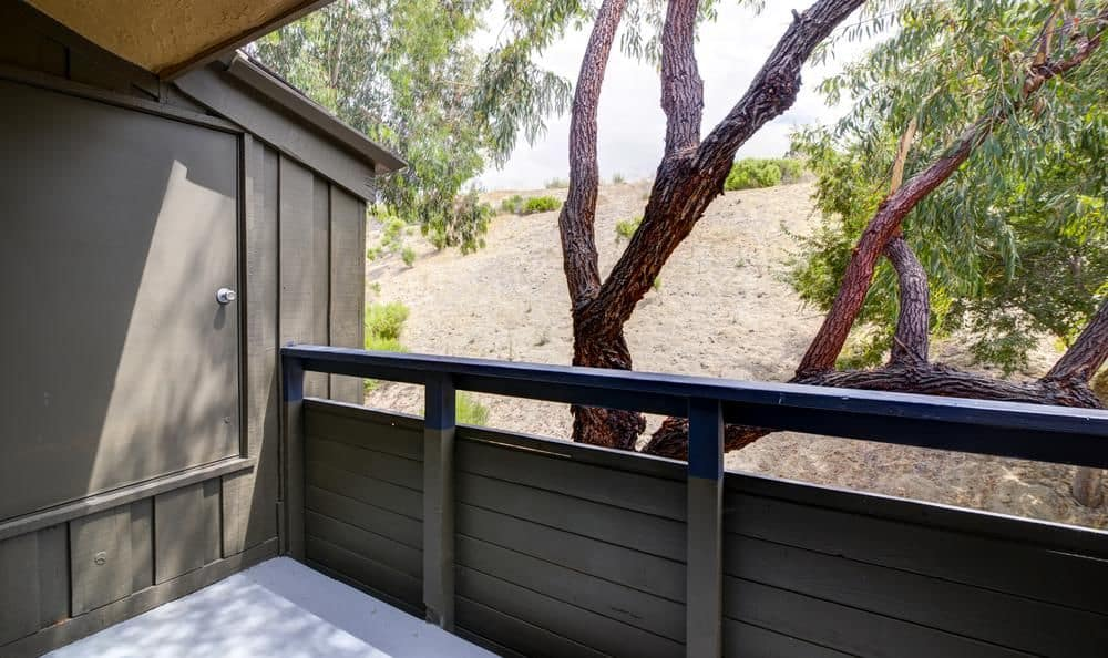 Private balcony at apartments in Oceanside, California