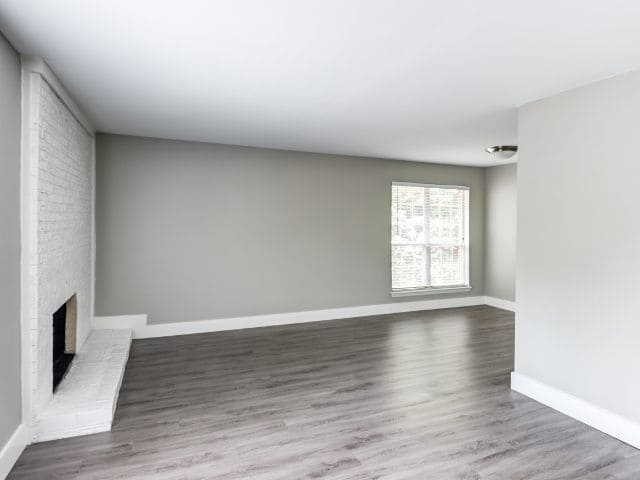 Spacious floor plans with hardwood floors at Six Forks Station in Raleigh