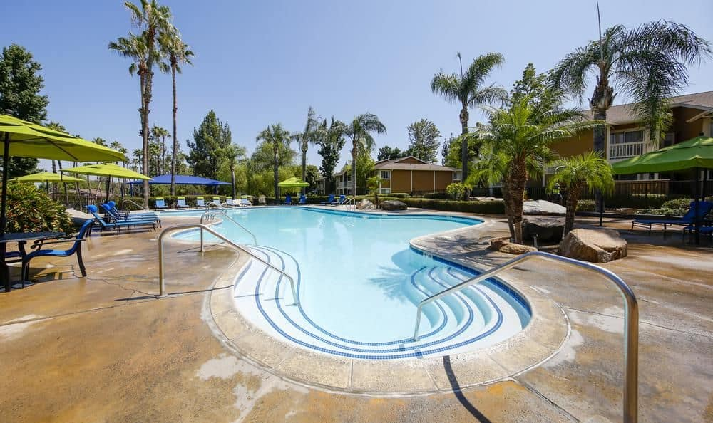 Luxury swimming pool at Redlands Lawn and Tennis Club in Redlands, California