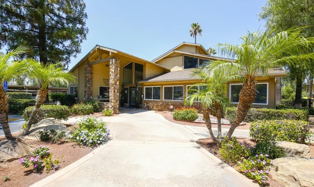 Clubhouse at apartments in Redlands, California