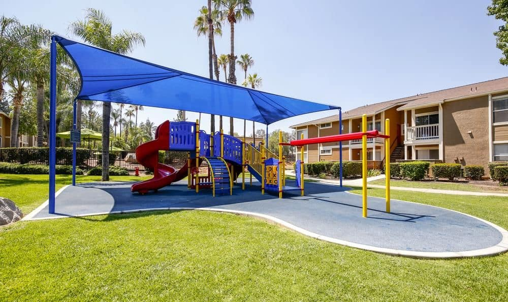 Playground at apartments in Redlands, California