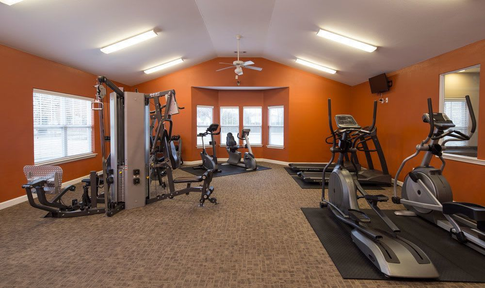 Fitness center at Crescent at Wolfchase home in Memphis, TN