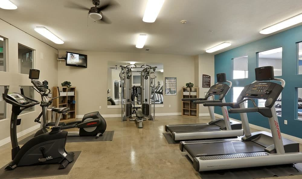 Spacious Fitness center At Diamond at Prospect Apartments In Denver CO