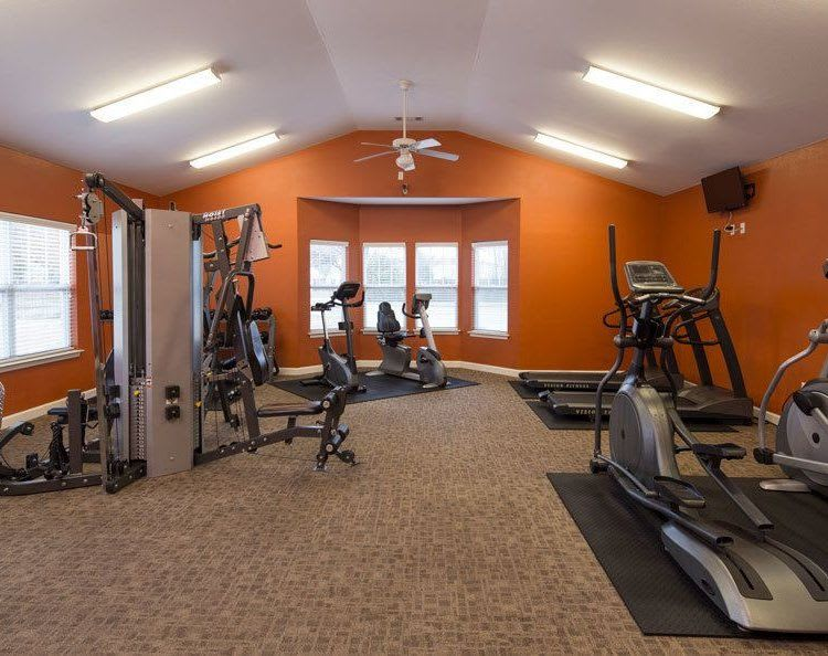 Stay healthy in our fitness center at Crescent at Wolfchase in Memphis, TN