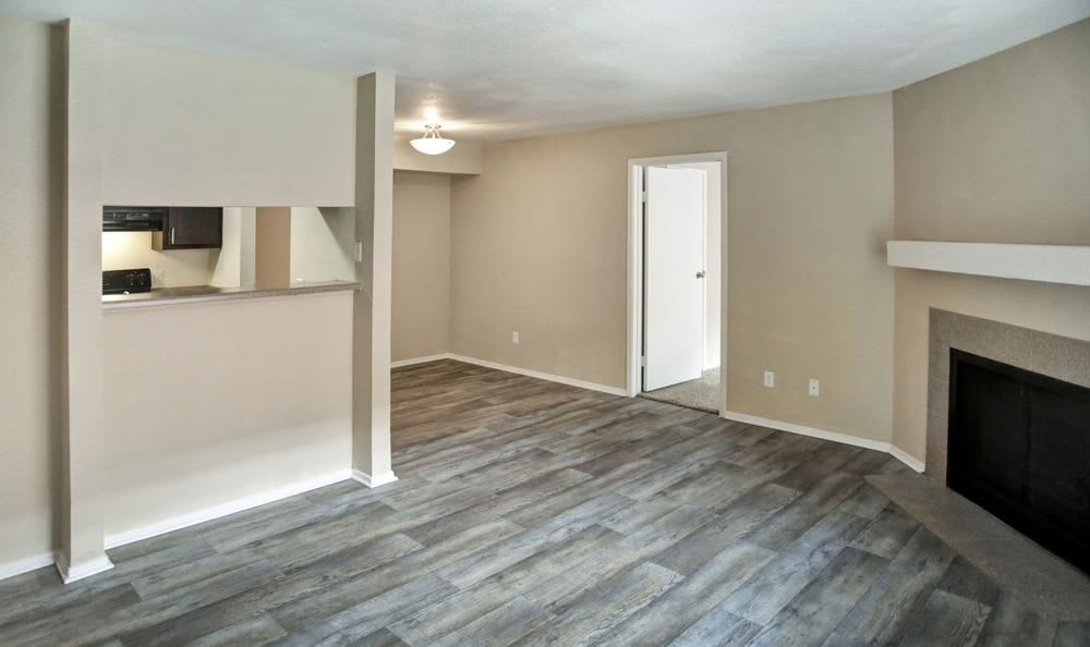 Living room at Chesapeake Apartments in Austin, Texas