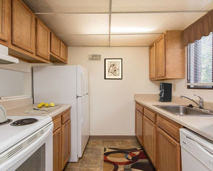 Upgraded kitchen at High Acres Apartments and Townhomes in Syracuse, NY