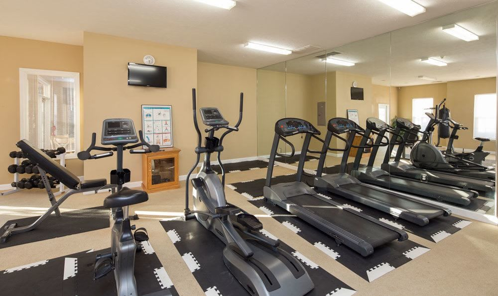 Stay healthy in our Main Street Apartments fitness center