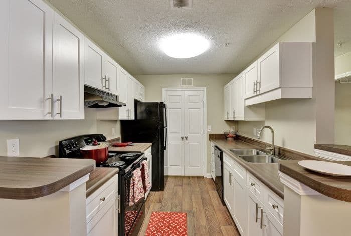 Model kitchen at The Park at Riverview