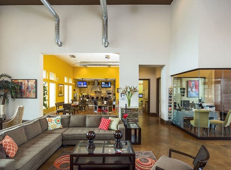 Clubhouse interior at Millennium Towne Center situated in Baton Rouge, LA