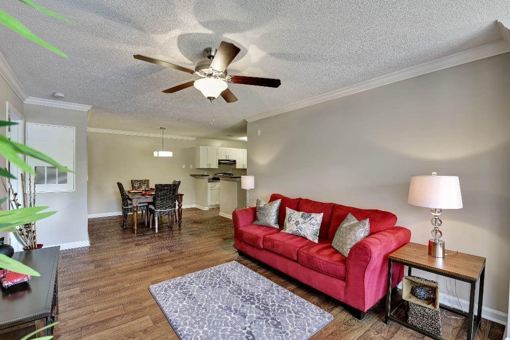 The Park at Riverview model living room