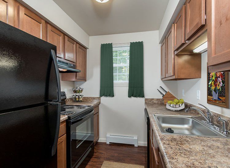 Upgraded kitchen at Orchard Estates
