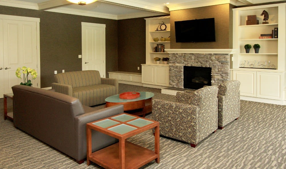 Clubhouse sitting room at Preserve at Autumn Ridge in Watertown, NY