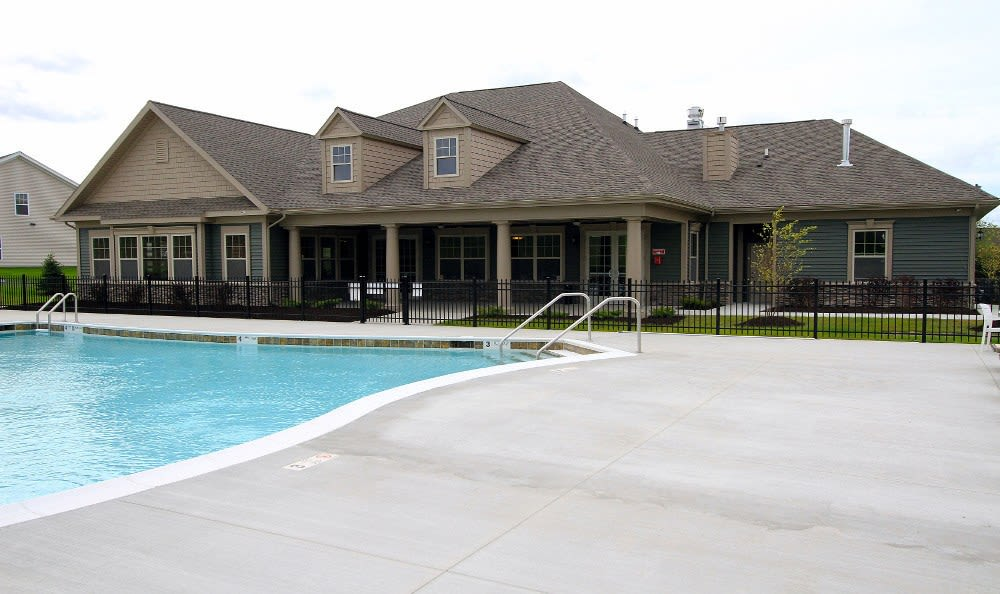 Sparkling swimming pool at Preserve at Autumn Ridge in Watertown, NY