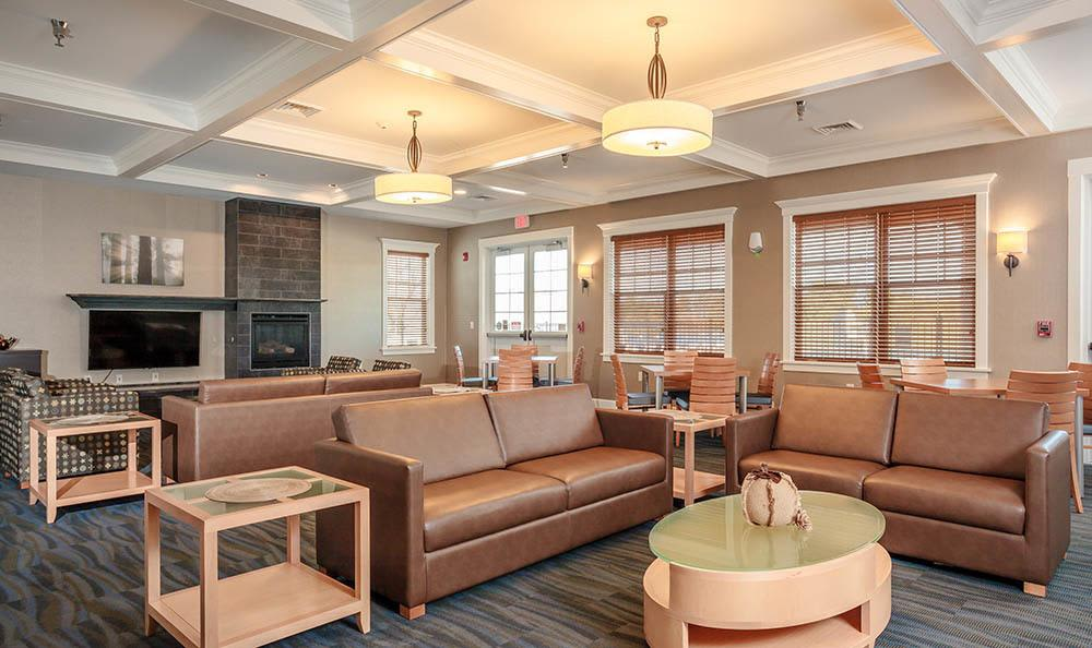 Clubhouse interior at Rivers Pointe Apartments in Liverpool, NY