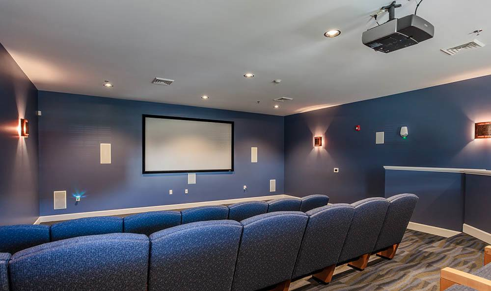 Movie theater at Rivers Pointe Apartments in Liverpool, NY