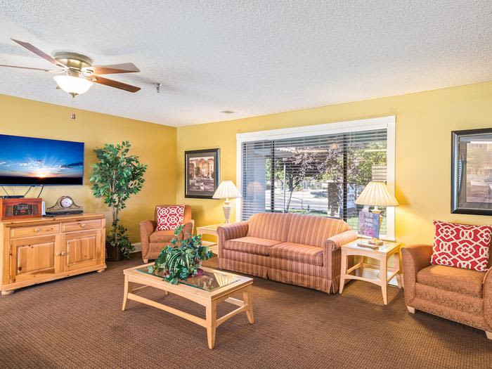 TV Room clubhouse at Sierra Vista Independent and Assisted Living in Victorville, CA
