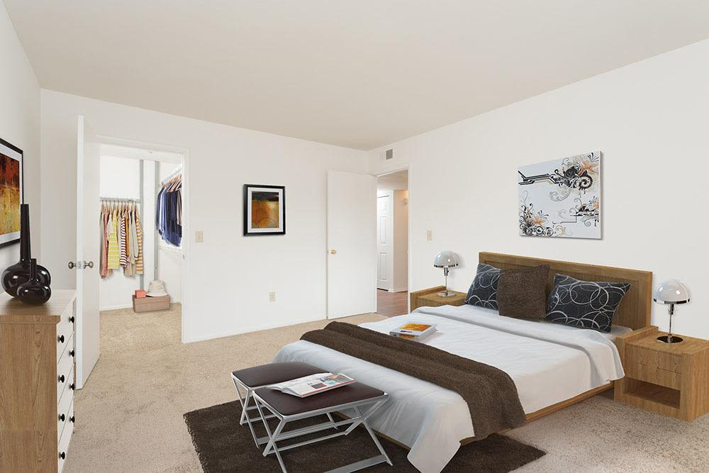 Enjoy a beautiful bedroom at Steeplechase Apartments home
