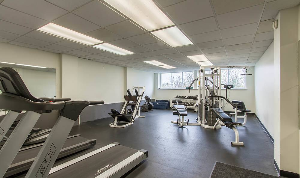 Stay healthy in our The Meadows Apartments fitness center in Syracuse, NY