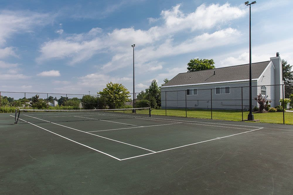 Tennis courts at The Meadows Apartments in Syracuse, NY