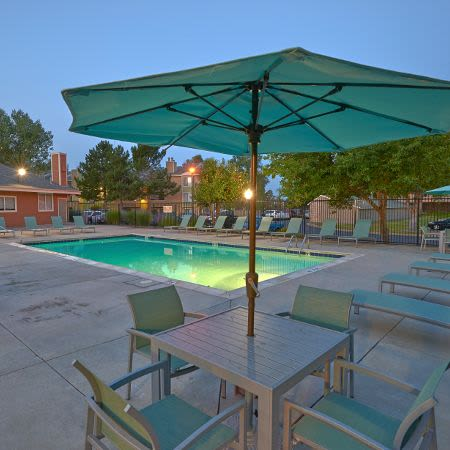 Refreshing swimming pool at Alton Green Apartments in Denver