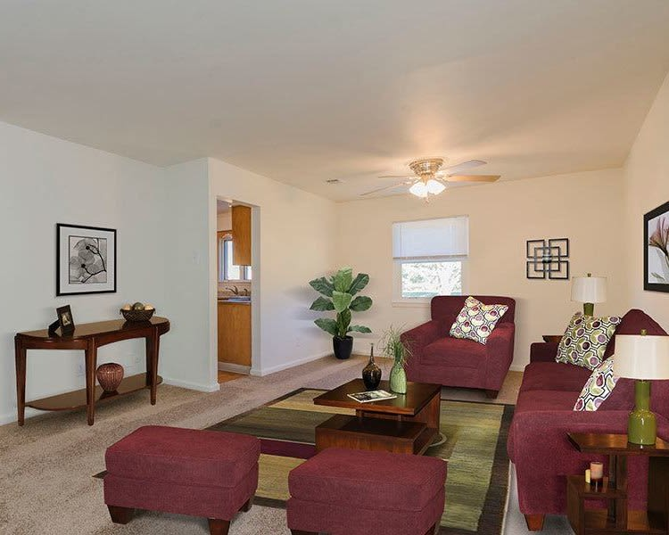 Ample living space at Eagle Meadows Apartments in Dover, Delaware
