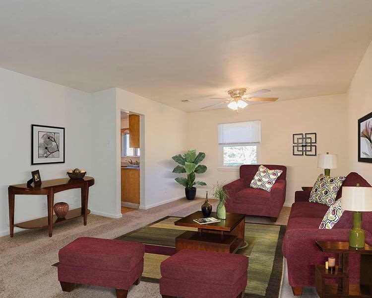 Ample living space at Eagle Meadows Apartments in Dover, DE