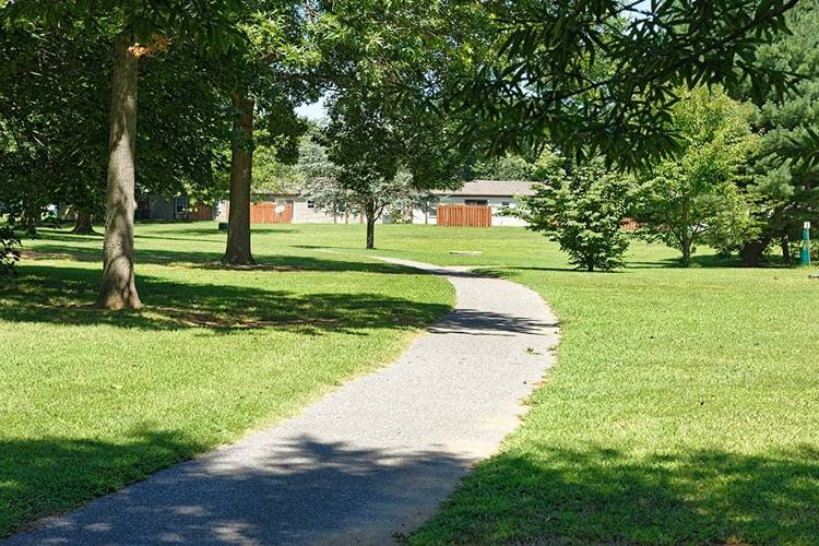 Pathway at Eagle Meadows Apartments in Dover, Delaware