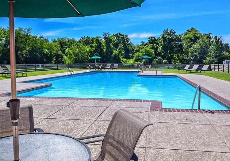 Enjoy a swimming pool at our beautiful apartments & townhomes