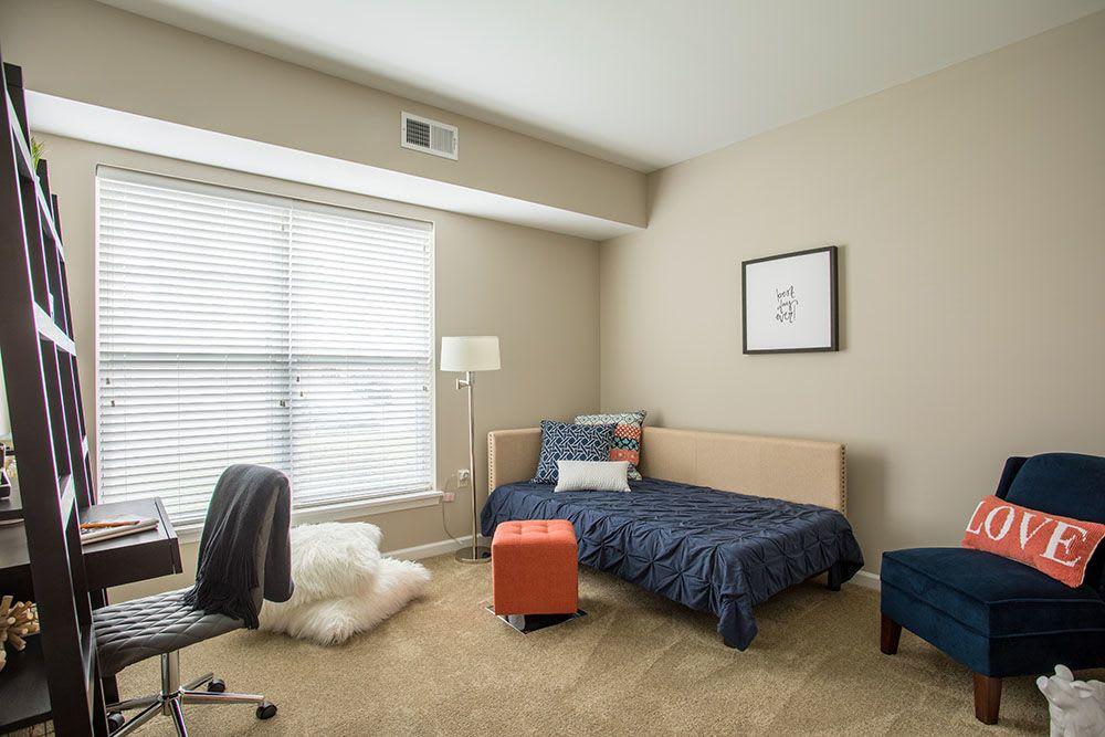 Spacious bedroom at The Landings at Meadowood in Baldwinsville, New York