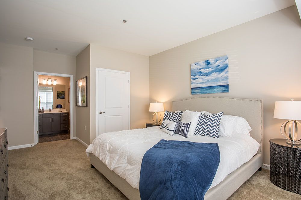 Principal bedroom at apartments in Baldwinsville, New York