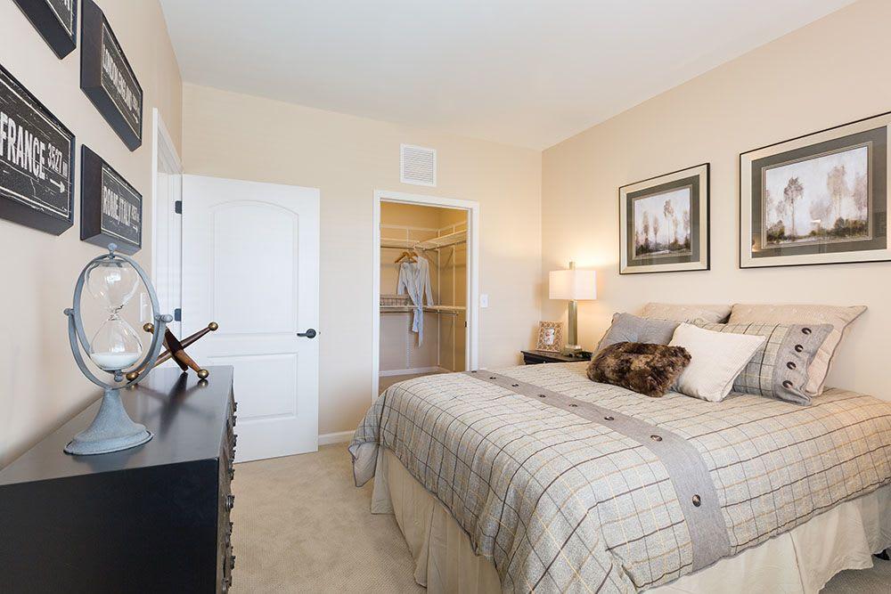 Model bedroom at Three Creeks Senior Living