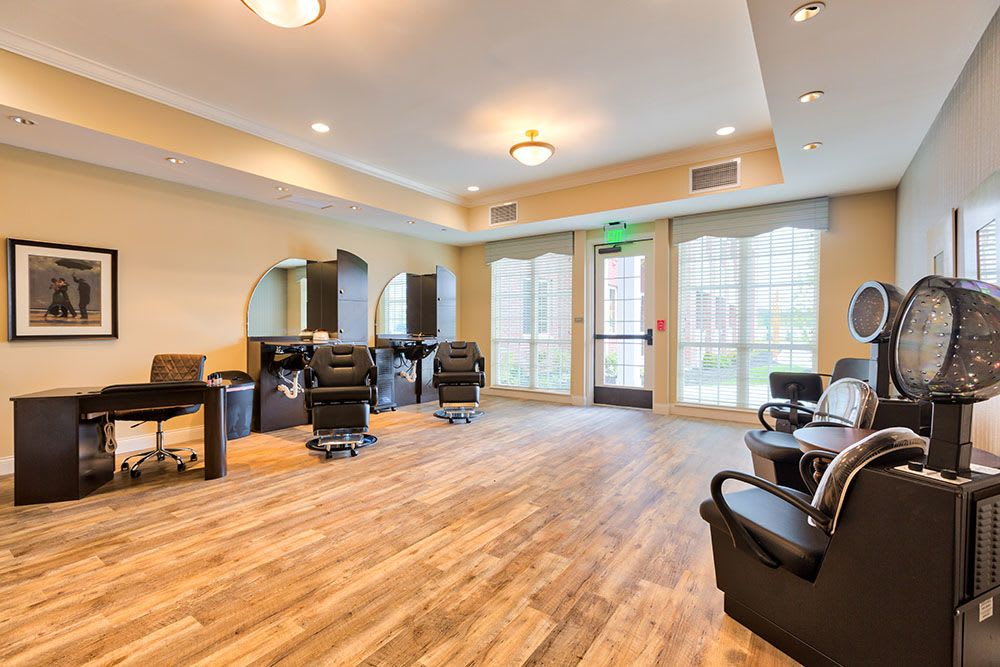 The salon is a great amenity at Three Creeks Senior Living