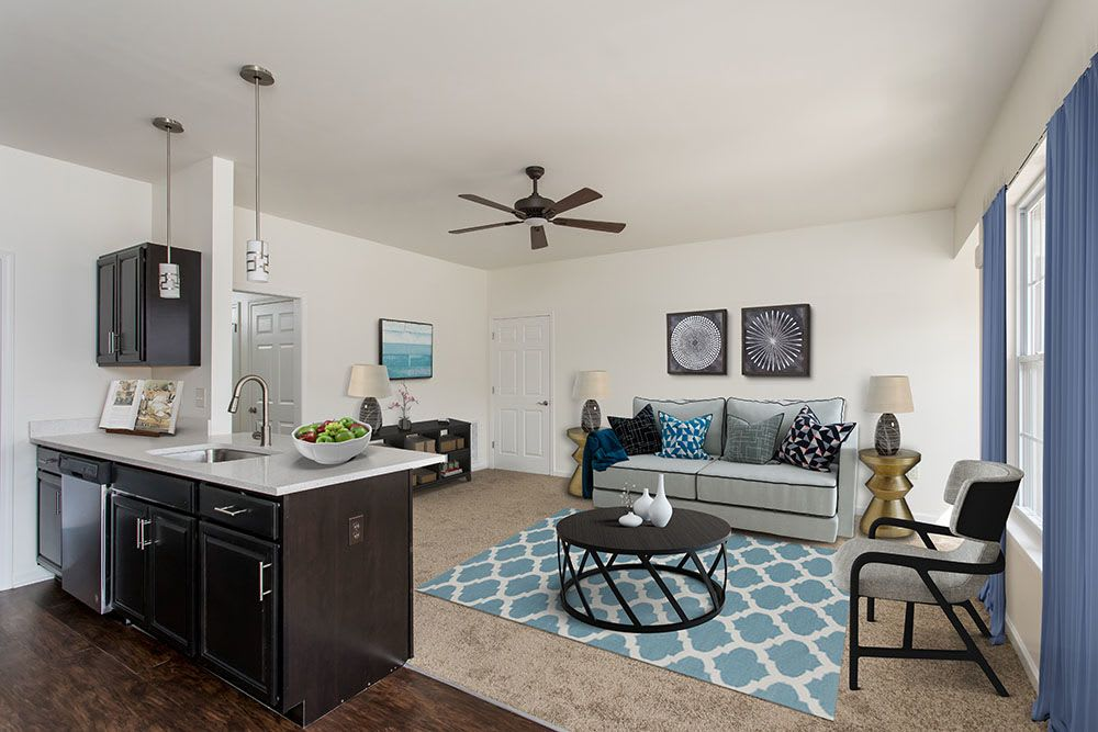 Avon Commons offers a spacious kitchen and living room in Avon, New York