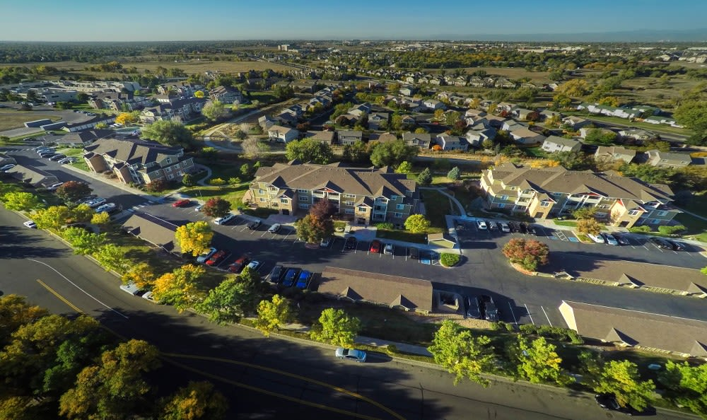 Aerial View at Westridge Apartments in Aurora, CO