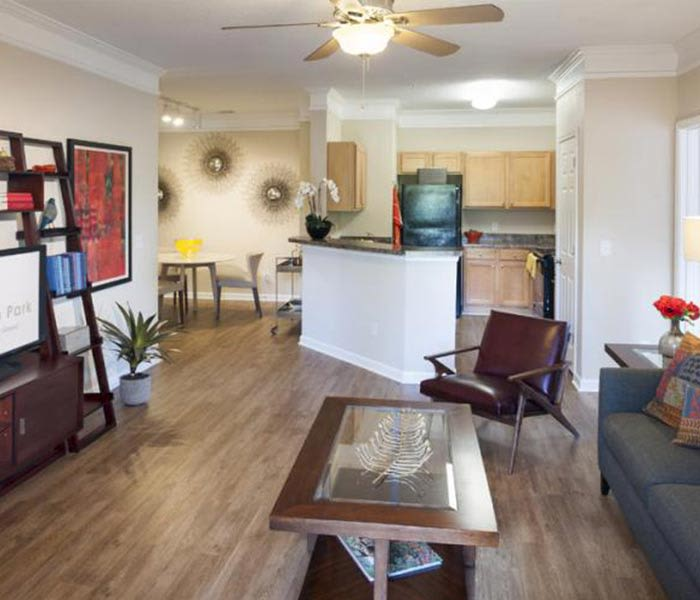 Model apartment at Carrington Park Apartments