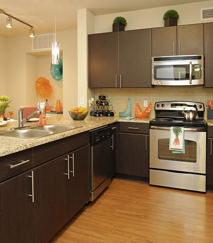 Upgraded kitchen at Addison Keller Springs