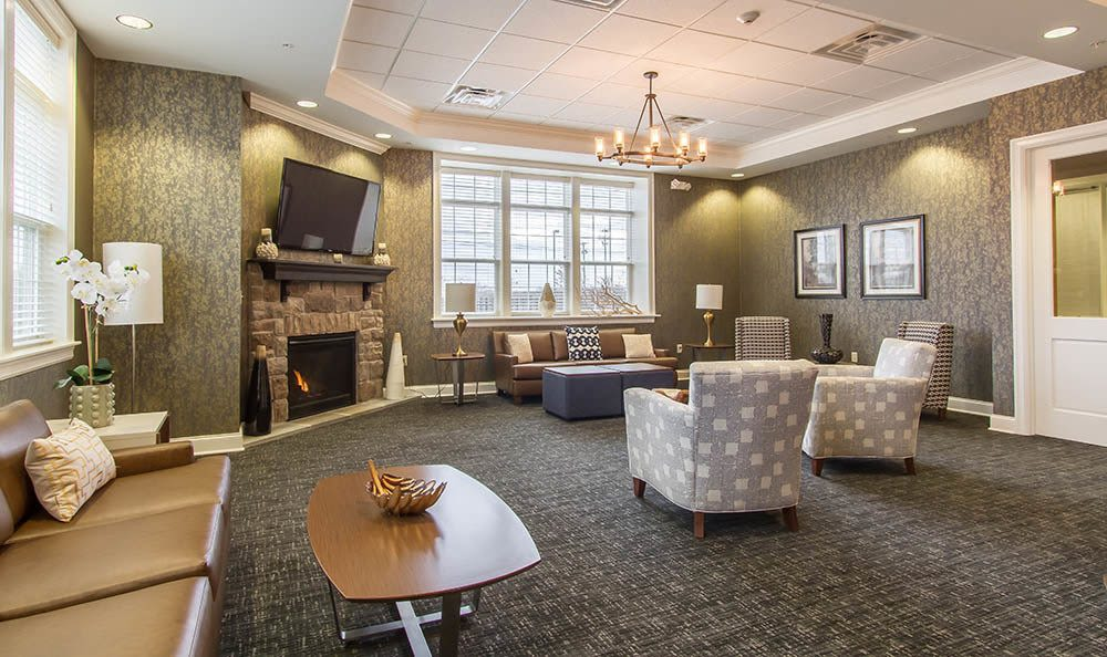 Clubhouse seating at Ethan Pointe Apartments in Rochester, NY