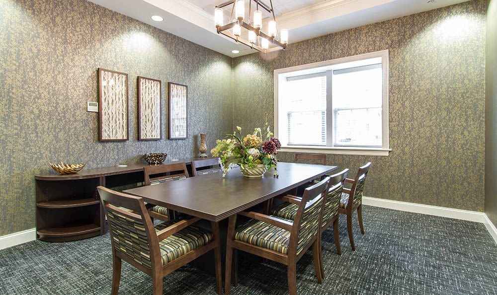 Conference table at Ethan Pointe Apartments in Rochester, NY