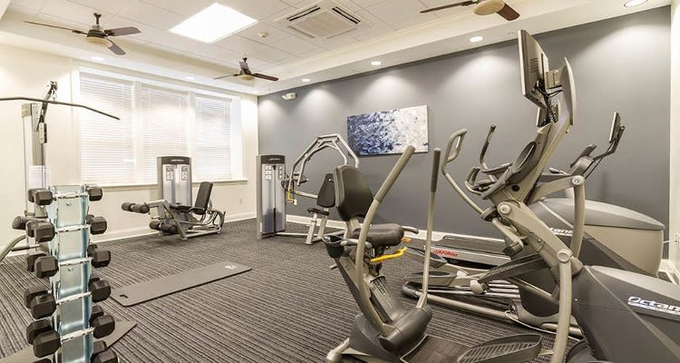 Ethan Pointe Apartments fitness center in Rochester, New York