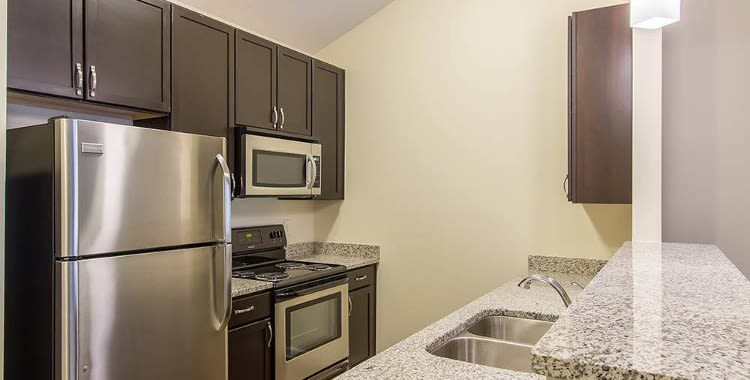 Granite countertops at Ethan Pointe Apartments home