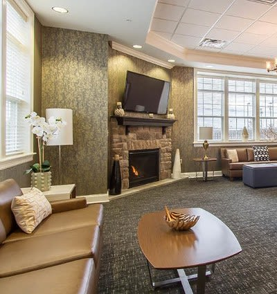 Clubhouse interior at Ethan Pointe Apartments in Rochester, New York