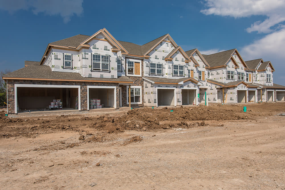Exterior view of apartments at Fairview at Town Center