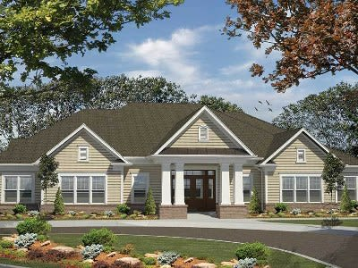 Front exterior of apartment home at Fairview at Town Center in Henrietta