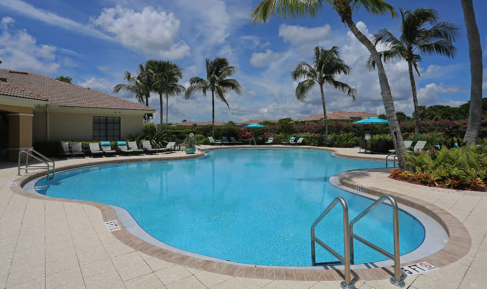 Beautiful swimming pool area at San Merano at Mirasol in Palm Beach Gardens