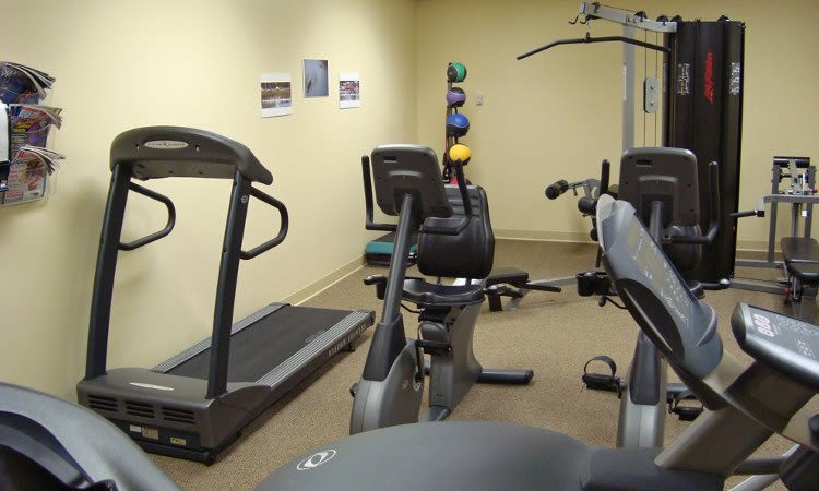Fitness center at Greenwood Cove Apartments in Rochester, NY