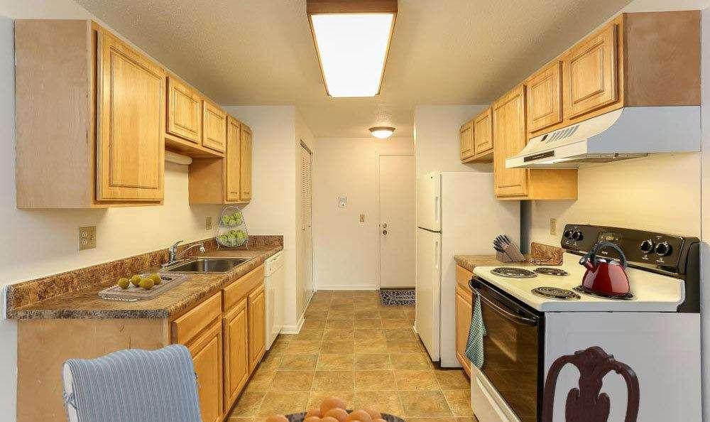 Fully equipped kitchen at Henrietta Highlands home in Henrietta